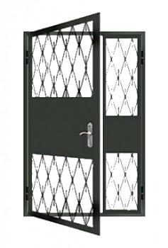 металлические двери с решеткой для тамбура